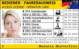 Sehr Staplerschein, Kranschein, Arbeitsbühnenschein in ganz Deutschland QV89